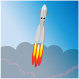 International day of human space flight. Rocket launch. From earth. Space Royalty Free Stock Photography