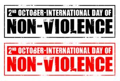 International day of non-violence Stock Image
