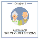 International Day of Older Persons, October 1 Stock Photo