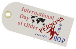 International Day Older Persons. A shortcut to the International Day of Older Persons. Vector illustration Royalty Free Stock Images