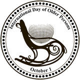International Day of Older Persons. Vector illustration Royalty Free Stock Image