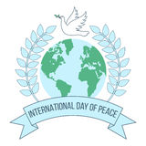 International day of peace banner Stock Photography
