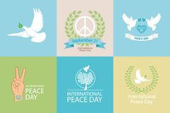 International Day of Peace Poster Royalty Free Stock Photos