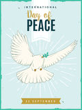 International Day of Peace poster. Vector illustration. Stock Photo
