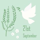 International Day of Peace symbol poster. Royalty Free Stock Photography
