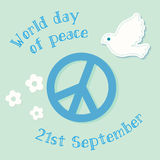 International Day of Peace symbol poster. Royalty Free Stock Photos
