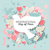 International Day of Peace vector illustration Stock Image