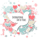 International Day of Peace vector illustration Royalty Free Stock Images