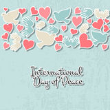 International Day of Peace vector illustration Royalty Free Stock Image