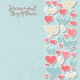 International Day of Peace vector illustration Stock Photos