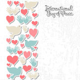 International Day of Peace vector illustration Royalty Free Stock Photos