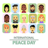 International day of peace. The world starts with you. The Trend Of Calligraphy. stock illustration