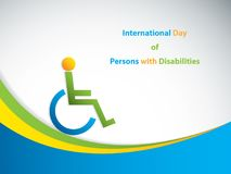 International Day of Persons with Disabilities. Brochure Stock Photo