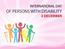 International Day of Persons with Disability. On December 3 Background Stock Photography