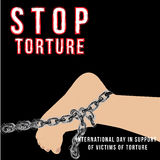 International day in support of victims of torture vector minimalistic concept Royalty Free Stock Photos