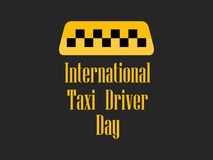 International day of the taxi driver. Celebratory banner with a taxi symbol. Vector Stock Image