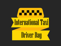 International day of the taxi driver. A ribbon with a taxi symbol. Celebratory banner. Vector Royalty Free Stock Photo