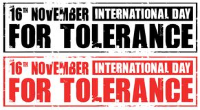 International day for tolerance Royalty Free Stock Photos
