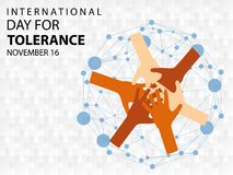International Day for Tolerance background vector illustration