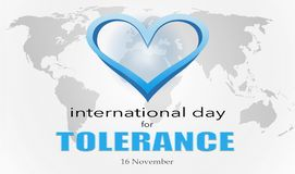 The International Day for Tolerance. Is to generate public awareness of the dangers of intolerance royalty free illustration