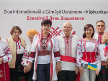 International Day of Ukrainian Embroidery in Chishinau, Moldova Royalty Free Stock Image