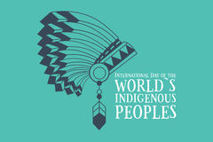 International Day of the Worlds Indigenous Peoples. Poster. Vector illustration Stock Photography
