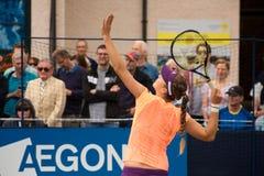 International de Belinda Bencic em 2014 Aegon (competiam de tênis de Eastbourne) imagem de stock royalty free