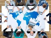 International de tierra global de la globalización de la cartografía del mundo Conce imagen de archivo libre de regalías