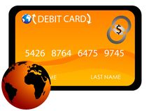 International debit card Stock Photography