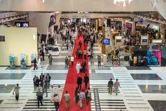 International Defence Exhibition in Abu Dhabi Stock Photo