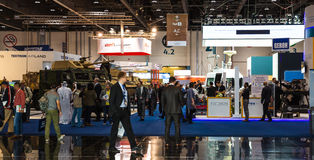 International Defence Exhibition in Abu Dhabi Royalty Free Stock Photo