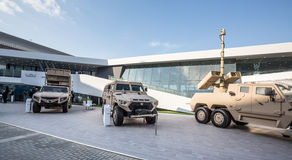 International Defence Exhibition in Abu Dhabi Stock Images