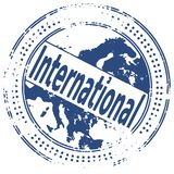 INTERNATIONAL del sello de Grunge Fotografía de archivo