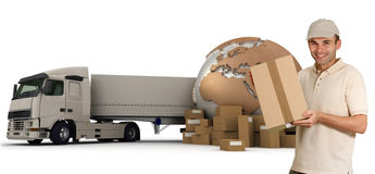 International delivery Stock Photo