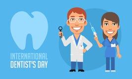 International Dentists Day Dentist and Nurse Royalty Free Stock Image