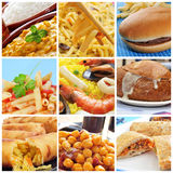 International dishes collage Royalty Free Stock Photos