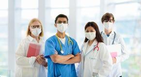 International doctor team. Hospital medical staff