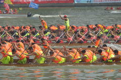 International Dragon Boat Invitational Tournament de Guangzhou Imagem de Stock