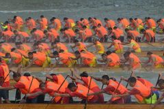 International Dragon Boat Invitational Tournament de Guangzhou Imagens de Stock