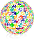 International e-mail. Network send, Sign Stock Image