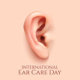 International ear care day  background. Royalty Free Stock Image