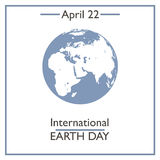 International Earth Day, April 22 Royalty Free Stock Images