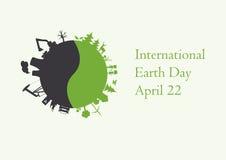 International Earth Day. Vector illustration for Earth Day. Vector illustration environment. Environmental  background. Festive card. Festive  illustration Stock Photos