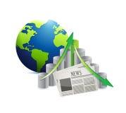 International economy news illustration design Stock Image
