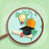 International education graduation cap distance e-learning Stock Photo