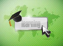 International education learning illustration Royalty Free Stock Photos