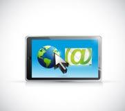 International email communication illustration Royalty Free Stock Photo