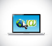 International email computer network Royalty Free Stock Photos