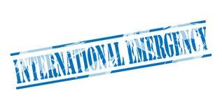 International emergency blue stamp Stock Photos