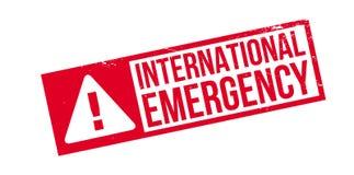 International Emergency rubber stamp Royalty Free Stock Photo